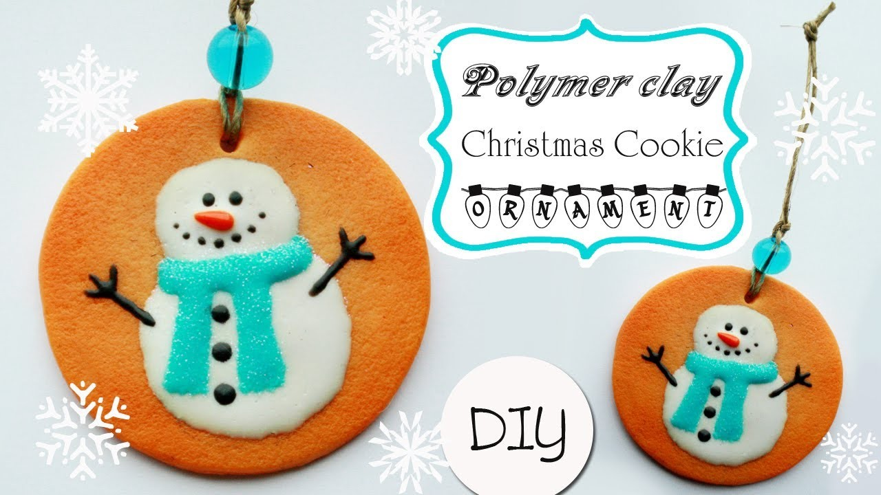 Polymer clay Christmas cookie ornament - TUTORIAL