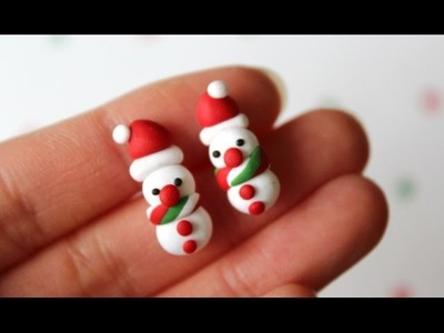 Snowman Earrings Polymer Clay Tutorial. EASY!