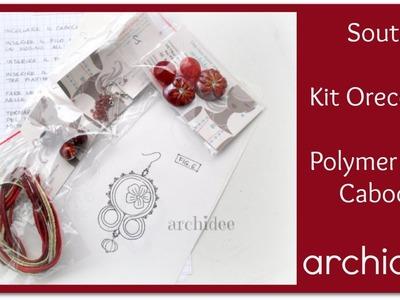 Soutache | Kit per Orecchini | DIY Cabochon Polymer Clay | Giugno