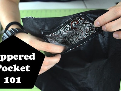 Zippered Pockets 101: How to sew and make a zippered pocket