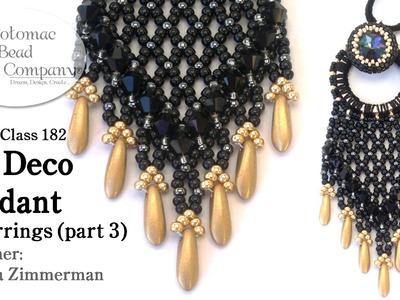Art Deco Pendant (or earrings) - Part 3