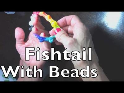 Awesome Rainbow Loom Fishtail Beaded Bracelet!