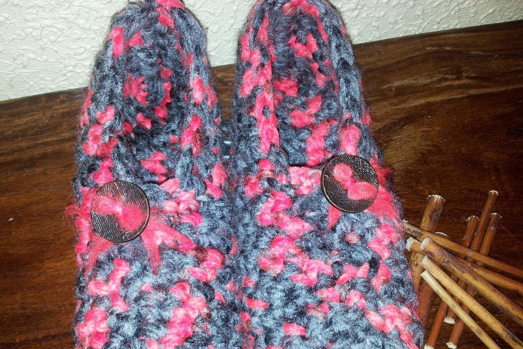 Babuchas simples de adulto paso a paso a crochet