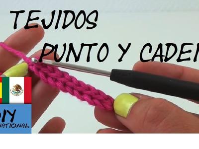 CÓMO HACER TEJIDO DE PUNTOS  TEJIDO DE CADENA - TUTORIAL DIY