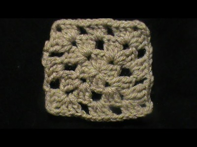 Cómo tejer un #Granny square o cuadrado a #crochet .