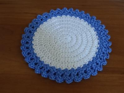 Crochet a teapot coaster