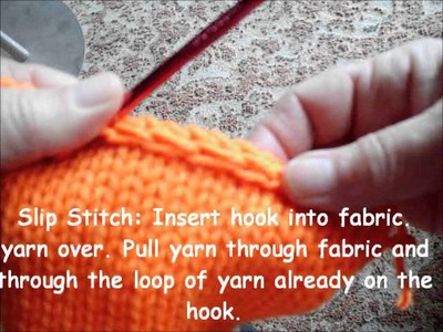 Crochet finishes for knitting part 2-slip stitch