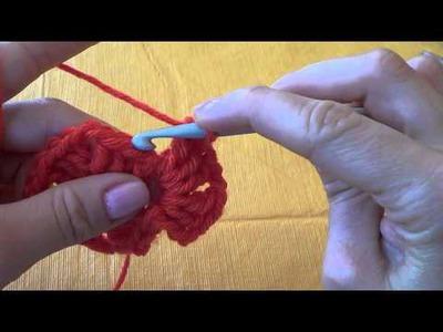 Crochet (Ganchillo): Granny Square 1 color primera parte