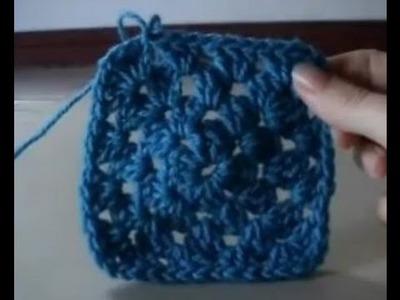 Crochet Granny Square Round 3 of 4