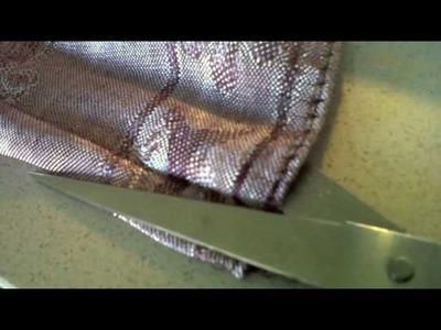 D.I.Y Upcycle old shawl to Boho Skirt