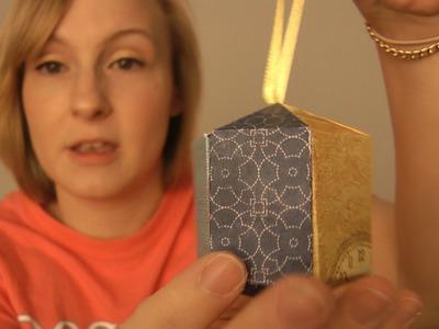DIY 3D Cardstock 3D Hexagon Christmas Ornament (DD Day 19)