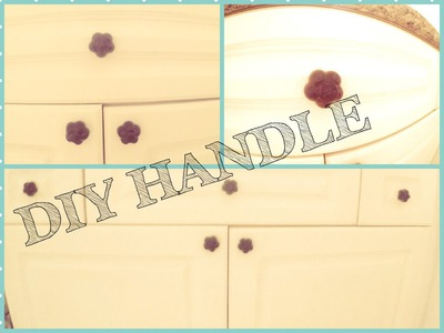DIY Bathroom Makeover - Custom Knob, Handle, Pull for a Dresser