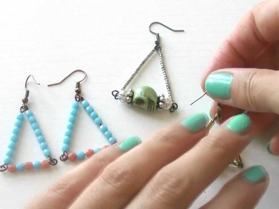 Diy Beading Tutorial - Triangle earrings