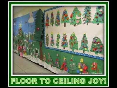 DIY Christmas bulletin board decorating ideas