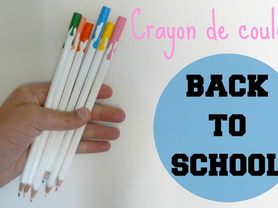 ✄ DIY : Crayons de couleurs || Back to school