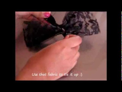 DIY How to Make a Quick Hair Bow Without Sewing: Gothic style