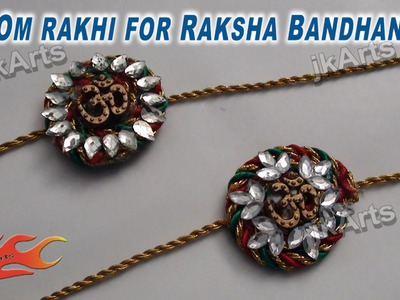 DIY How to make Om rakhi for Raksha Bandhan - JK Arts 252