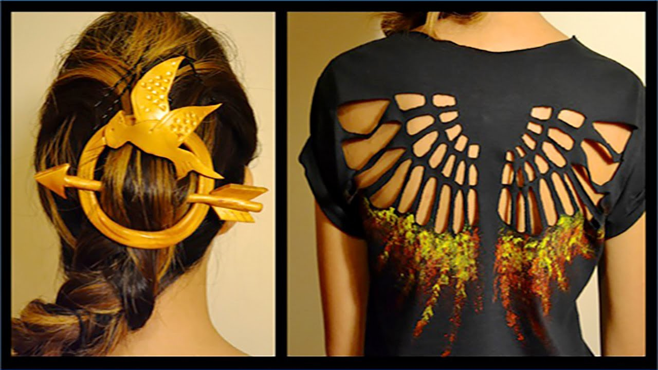 DIY Hunger Games Shirt & Hair Pin- Mockingjay