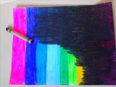 DIY. Letter with crayons ♥ Manualidades. Carta con crayolas