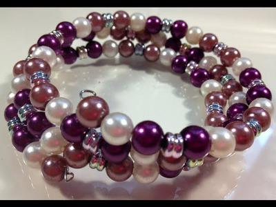 DIY: Memory Wire Wrap Bracelet ♡ Theeasydiy #FashionDIY