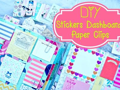 DIY Planner Supplies: Stickers, Paper Clilps, and Erin Condren Dashboard