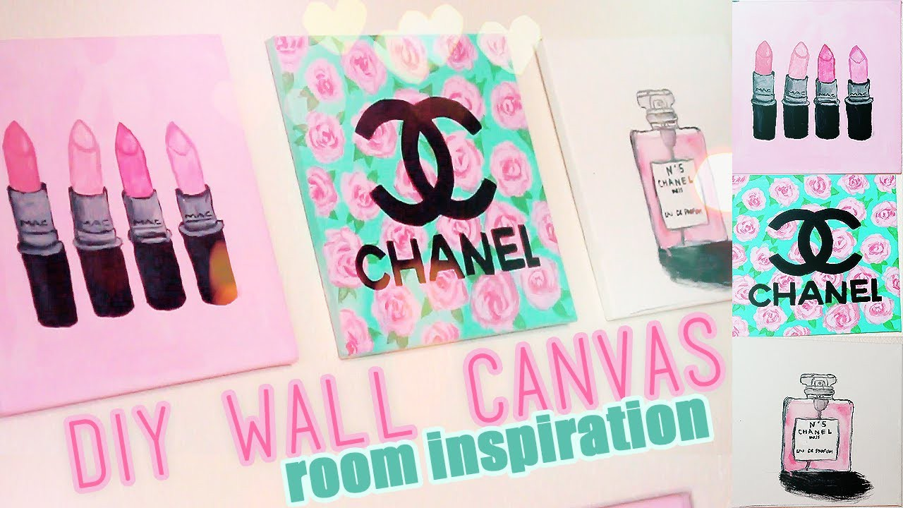 DIY Room inspiration Decor | Chanel, MAC, Designer Paintings | Juicydaily 2014