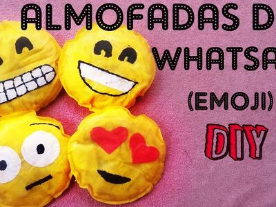 DIY-Tutorial:Como fazer almofadas do whatsapp com TNT.Emoticon. Cushion Emoticons of Whatsapp