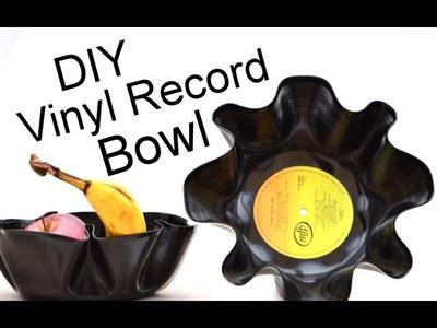 DIY Vinyl LP Record Bowl. Interior Design and Decoration Ideas.