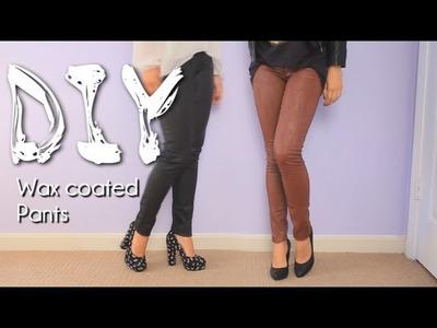 DIY Wax Coated Pants Look Fall Trend {How To}