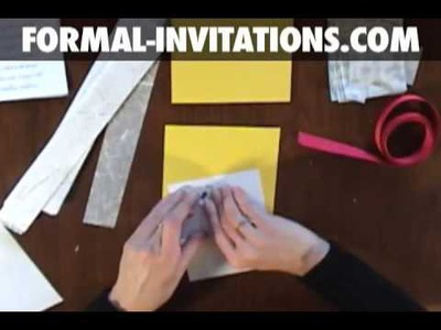 Diy wedding invitations with belly bands