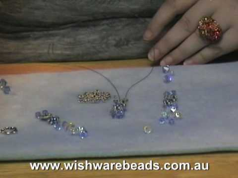 Flower Swarovski Necklace @Wishware Online Beading Classes