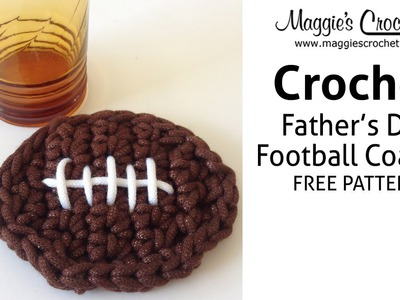 Football Coaster Free Crochet Pattern - Right Handed