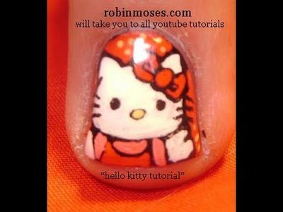 Hello Kitty Nail Art - DIY #HOWTO #NAILS