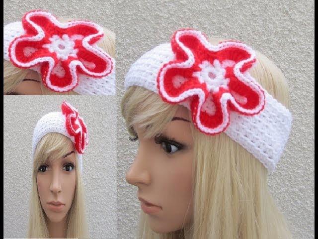 How to Crochet Earwarmer. Headband Pattern #2 │ by ThePatterfamily