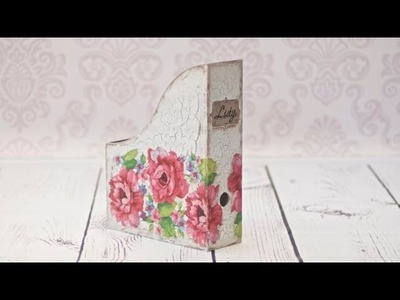 How to decorate a wooden box for documents decoupage -  DIY