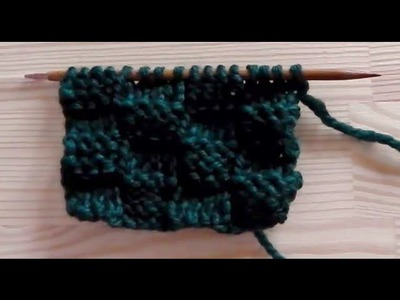 How to knit the basket weave pattern