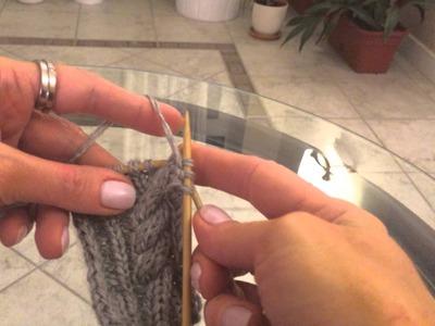 How to knit. Вязание спицами. Урок 12. Косы косички жгут.