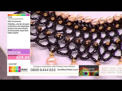 [How to make Crochet Steam Punk Jewellery] - JewelleryMaker DI 19-3-15
