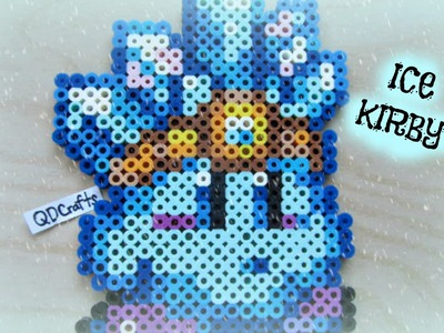 Ice Kirby Perler Bead Sprite
