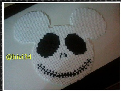 Jack Skellington Mickey Mouse Hama Beads Midi