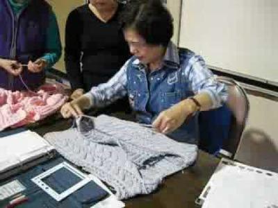 Knitting class 7. 8. 09  雙邊縫合 1