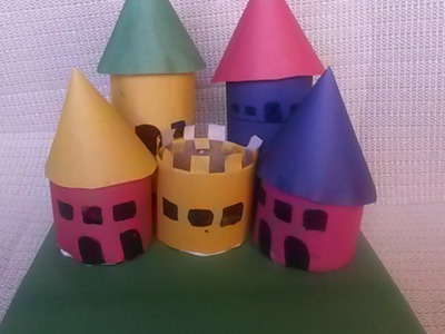Make a Colorful Paper Roll Play Castle - DIY Crafts - Guidecentral