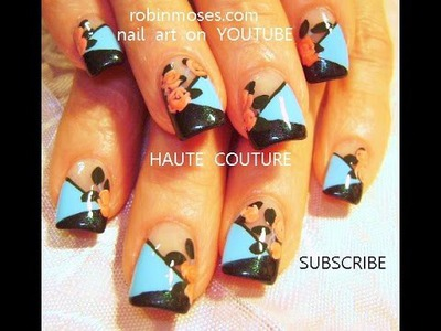 Nail Art Design |  DIY Couture Rose Nails Tutorial
