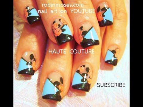 Nail Art Design |  DIY Couture Rose Nails Tutorial