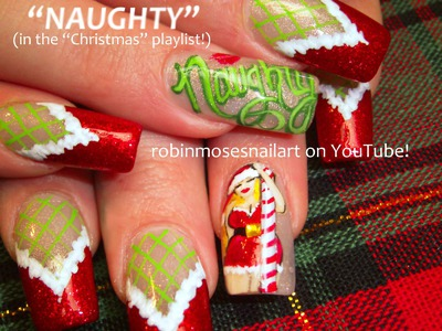Nail Art Tutorial | Christmas Nail Art | DIY Xmas Nails! Naughty Diva Stockings