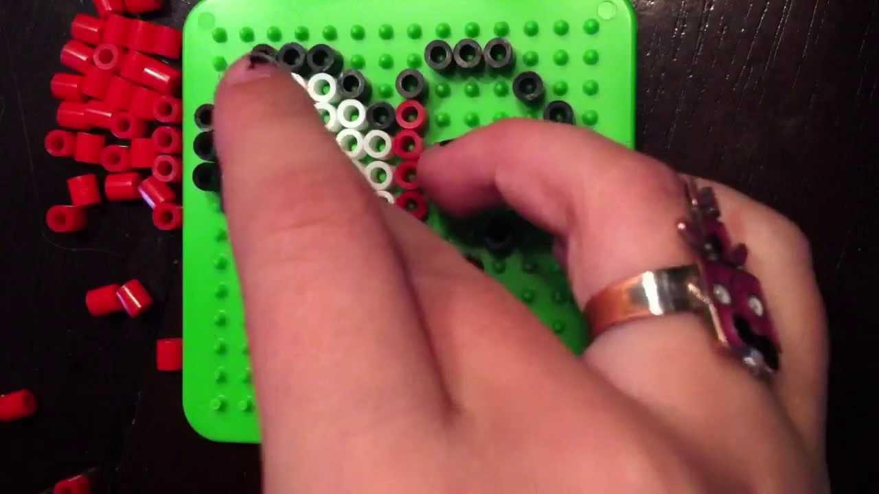 Perler bead Zelda heart
