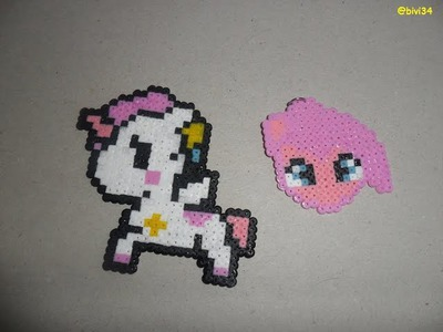 Pinkie Pie y caballito hama beads mini