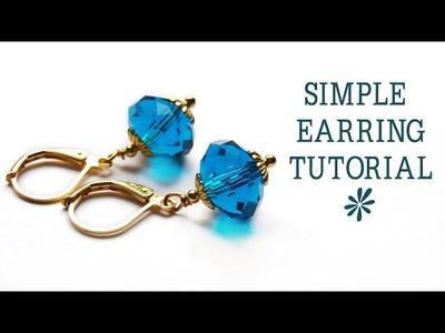 Simple earring tutorial - jewelry making