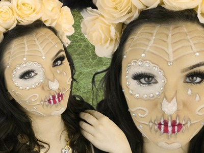 Sugar Skull Makeup Tutorial + DIY Flower Crown
