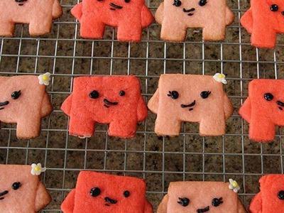 Super Meat Boy & Bandage Girl Cookies - Quake n Bake!